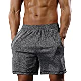 Gash Hao Athletic Gym Shorts Mens Workout Running Bodybuilding Training Short, Gray, Large