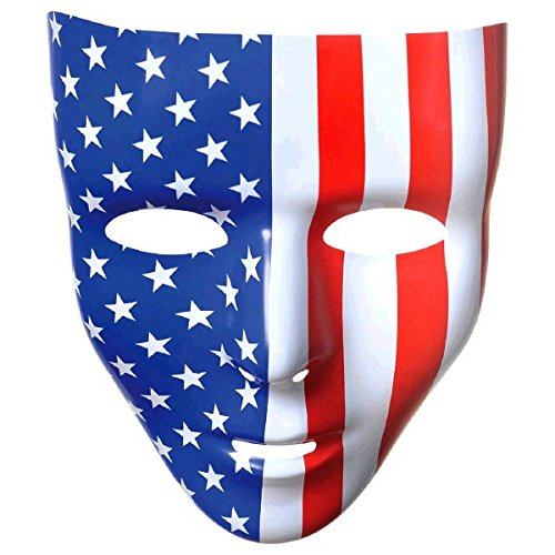 Amscan Full Face Mask, Party Accessory, Red, White And Blue -