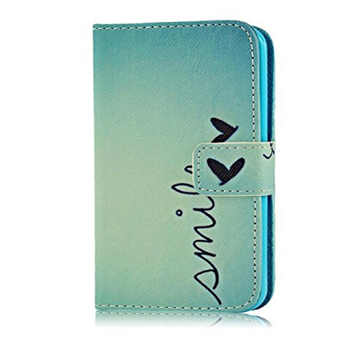 Mchoice Smile Pattern Wallet Leather Case Cover iPhone