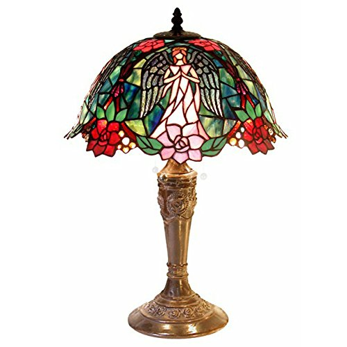 Table Lamp Tiffany Angels (Warehouse of Tiffany Tiffany-style Angel Table Lamp, new)