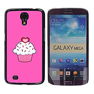 For Samsung Galaxy Mega 6.3 / i9200 / SGH-i527 , S-type® Love Pink Valentines Sweet Pastry - Arte & diseño plástico duro Fundas Cover Cubre Hard Case Cover