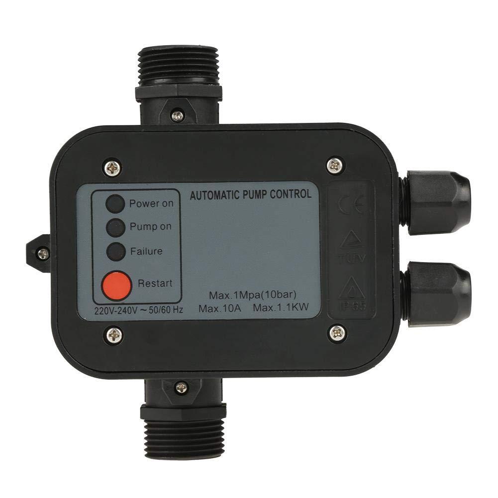 Pressure Switch, 220V Black Self-Priming Water Pump Pressure Switch Automatic Pressure Controller for Self-Priming Pump, Jet Pump, Garden Pump, Clean Water Pump, Centrifugal Pump, etc by Vikye
