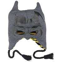 Máscara reversible peruana con orejas de DC Comics para hombres, orejas, negro, talla única