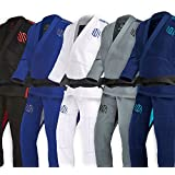 Sanabul Essentials v.2 Ultra Light BJJ Jiu Jitsu Gi with Preshrunk Fabric (Navy, A1) See Special Sizing Guide