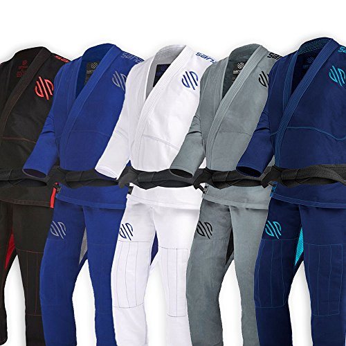 Sanabul Essentials v.2 Ultra Light BJJ Jiu Jitsu Gi with Preshrunk Fabric (Navy, A0)