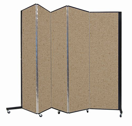 Screenflex Privacy Screen, 5.75' x 9.4', Sandalwood by Screenflex