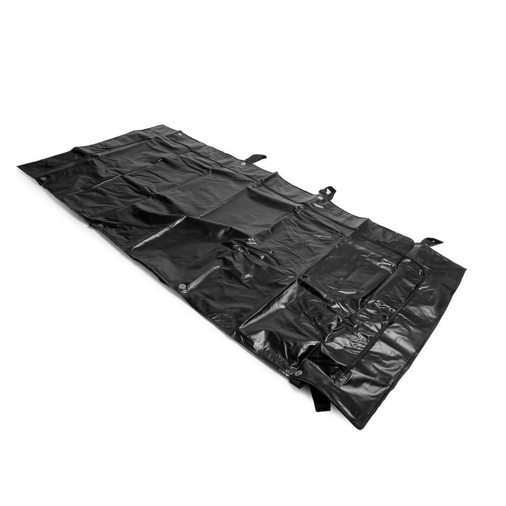 MediChoice Post Mortem Bag Kit, w/Double Locking Zipper, 47.5x99 Inches, Adult, Black, 1314PM900BXL (Case of 5)
