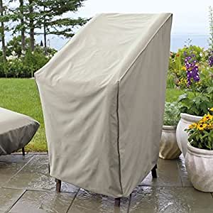 Amazon Com Weather Wrap Stacking Chair Cover Patio