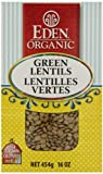 Eden Foods Organic Dry Green Lentils, 454 gm