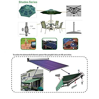 JIANG Portable Flexible Solar Panel Charger Small Solar Panels for Science Projects  Wireless Charger 1 Watt 6 Volt Thin Film Solar Pannel Cell DIY for car or Camping Solar Charger Battery