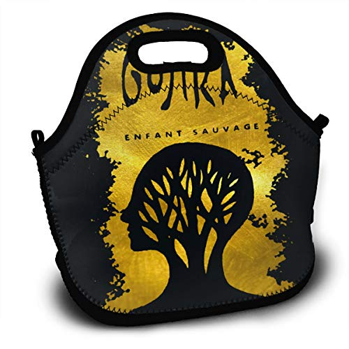 Neoprene Insulated Lunch Bag, Gojira L'enfant Sauvage School Picnic Thermal Carrying Gourmet Lunchbox Lunch Tote Container Organizer For Adult, Teen, Men, Women
