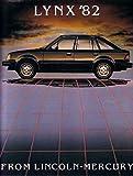 1982 Mercury Lynx Sales Brochure Literature Book Advertisement Options Specs