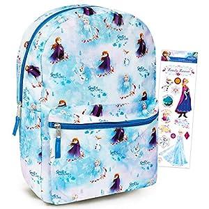 Disney Frozen Backpack for Girls Kids Adults ~ 16″ Disney Frozen School Backpack Bag Bundle with Stickers (Frozen School Supplies)