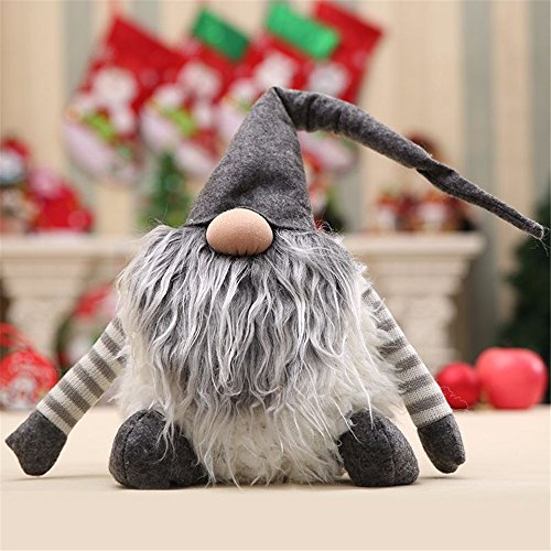 Handmade Swedish Peitero,Santa - Scandinavian Gnome Plush-Christmas Gift Birthday Present - Home Ornaments Christmas Decoration Table Decor,Red