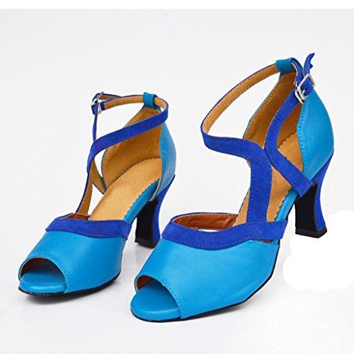 Meijili - Zapatillas de danza para mujer Azul