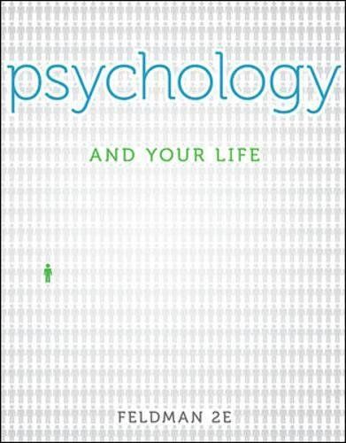 Psychology and Your Life -  Feldman, Robert, 2nd Edition, Paperback
