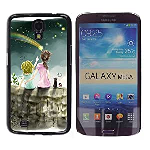 Impact Case Cover with Art Pattern Designs FOR Samsung Galaxy Mega 6.3 Meteor Shower Art Night Sky Sisters Star Betty shop