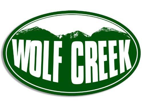 Oval WOLF CREEK Mountain BG Sticker (snow ski - Creek Mountain Ski