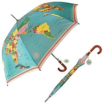 dotcomgiftshop vintage world map gentlemans umbrella