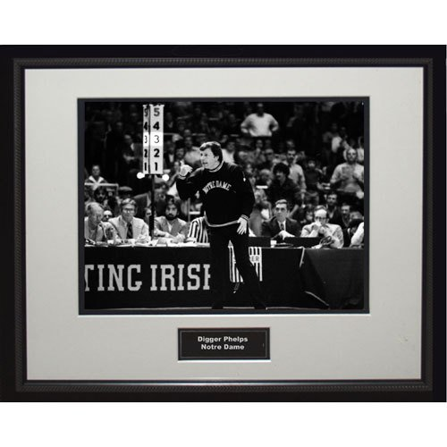 NCAA Notre Dame Fighting Irish Digger Phelps Sideline Igned 16x20 Photo Digger Framed Print