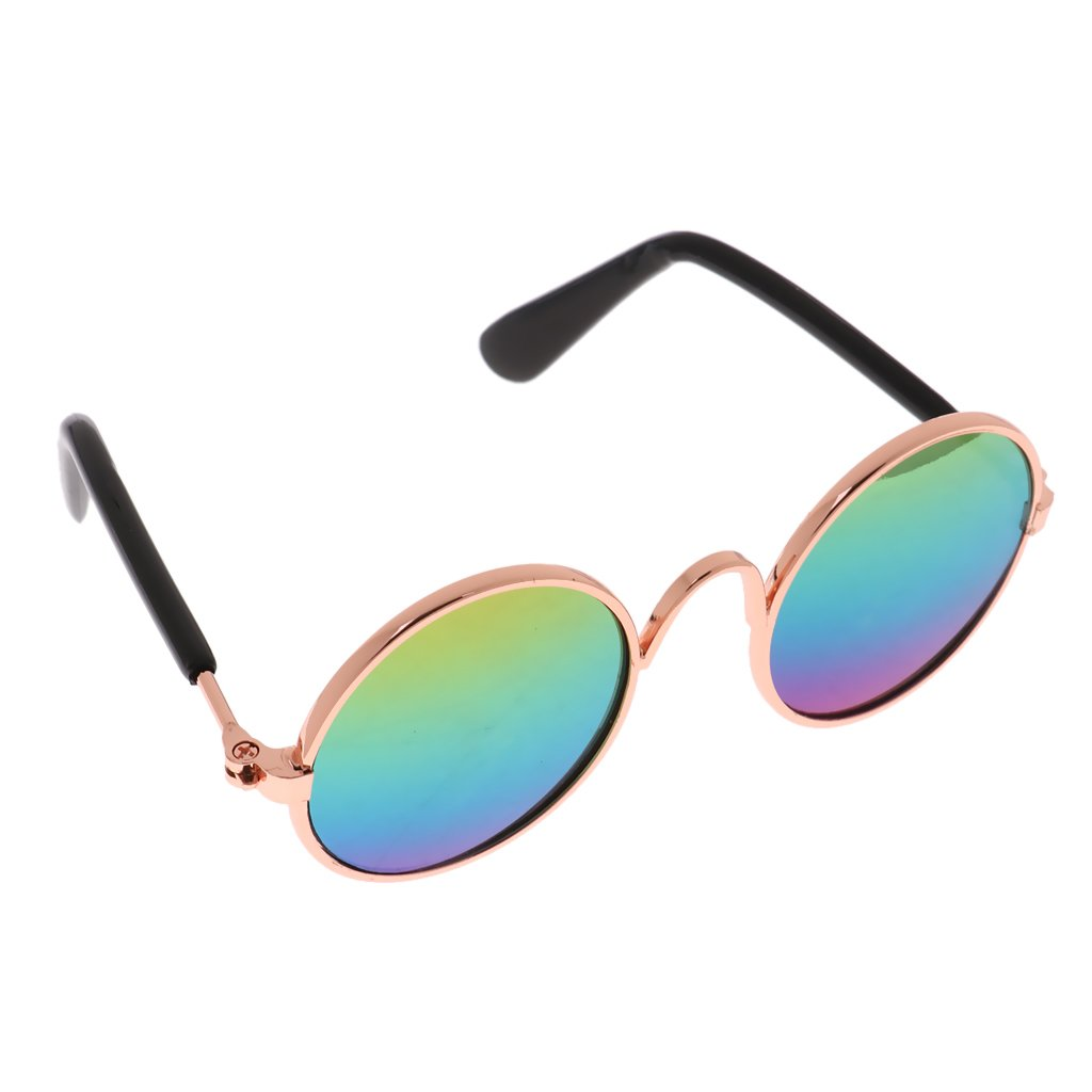 Baoblaze Fashion Pet Cat Dog Puppy Sunglasses Stylish Metal Glasses Eyeglasses Fun Toy - ##2