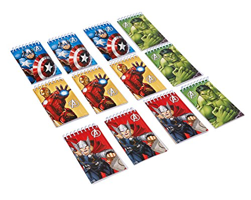 12 Count Avengers Notepads, Mini, Multicolored (Avengers Party Favours)