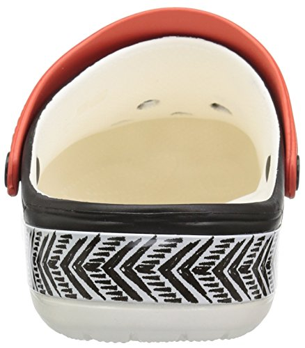 black Crocband On Crocs Chevron Croslite X M3 m3 Drew w4 Slip white Black Clog Women's w4 Size BqYP4nB