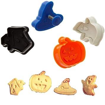 ElecMotive Set de 4 moldes para galletas en plástico Navidad En una caja de regalo: Amazon.es: Hogar