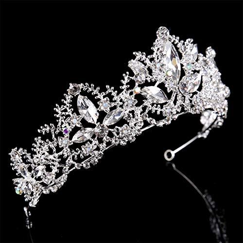 os nupcial Aivtalk Plata princesa Diadema Color Diadema Cumplea o Corona Reina Rhinestone Princesa 2 IHx5x4pq