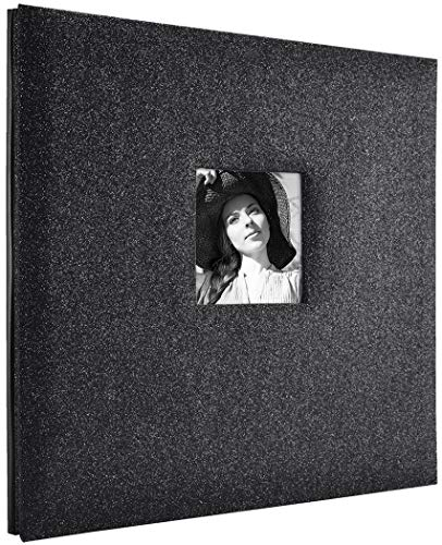 MCS MBI 13.5x12.5 Inch Black Diamond Glitter Scrapbook Album with 12x12 Inch Pages (860133)