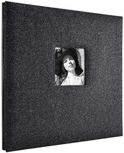 (MCS MBI 13.5x12.5 Inch Black Diamond Glitter Scrapbook Album with 12x12 Inch Pages (860133))