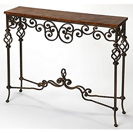 Algiers Console Table In Distressing Brown 797141