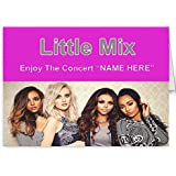 Little Mix personalised concert ticket card
