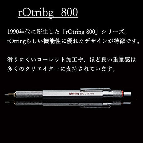 rOtring 1904449 800 Retractable Mechanical Pencil, 0.5 mm, Silver Barrel by Rotring (Image #1)