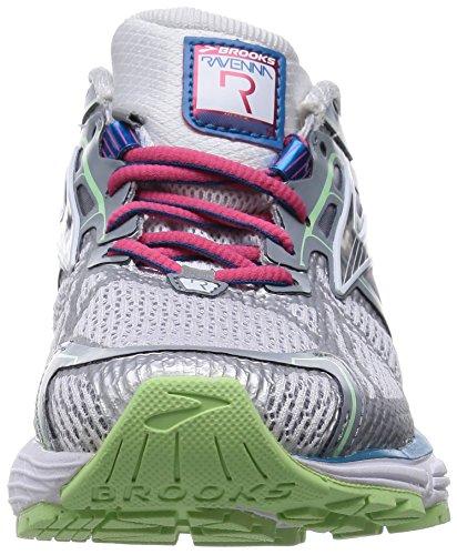 Brooks Ravenna 6 W Damen Laufschuhe White/Raspberry/Paradise Green