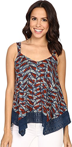 Lucky Brand Women's Lace Trim Tank Top, Multi, X-Large