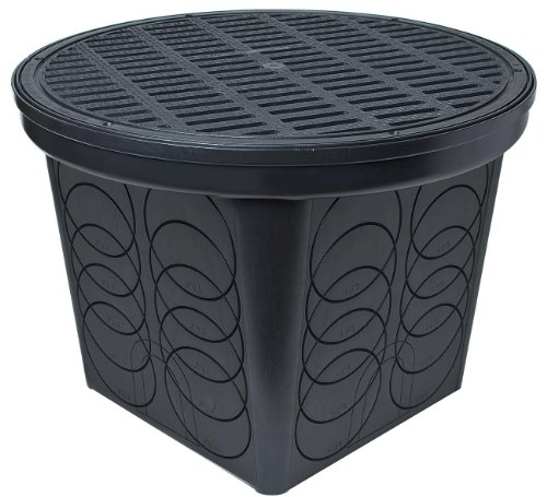 StormDrain FSD-3017 20 in. Large Round Catch Basin with Black Grate ()