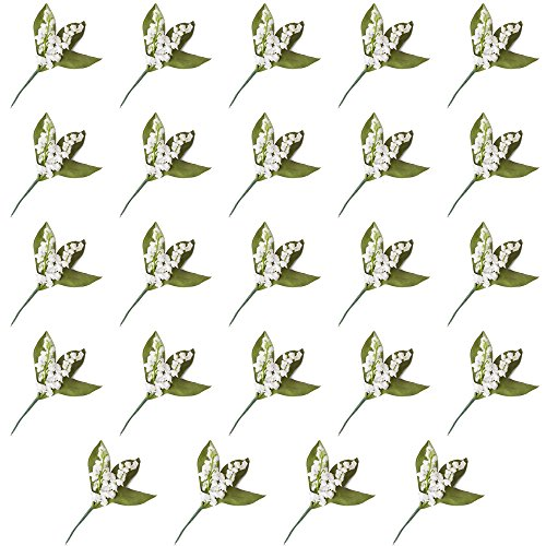 Bouquet Lily The Of Valley (Factory Direct Craft Artificial Lily of the Valley Picks for Arranging and Decorating - 24 Picks)