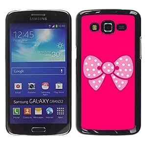 Caucho caso de Shell duro de la cubierta de accesorios de protección BY RAYDREAMMM - Samsung Galaxy Grand 2 SM-G7102 SM-G7105 - Pink Butterfly Pattern