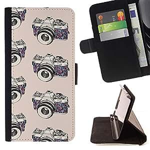 Momo Phone Case / Flip Funda de Cuero Case Cover - Photographe Noir Blanc - Apple Iphone 6