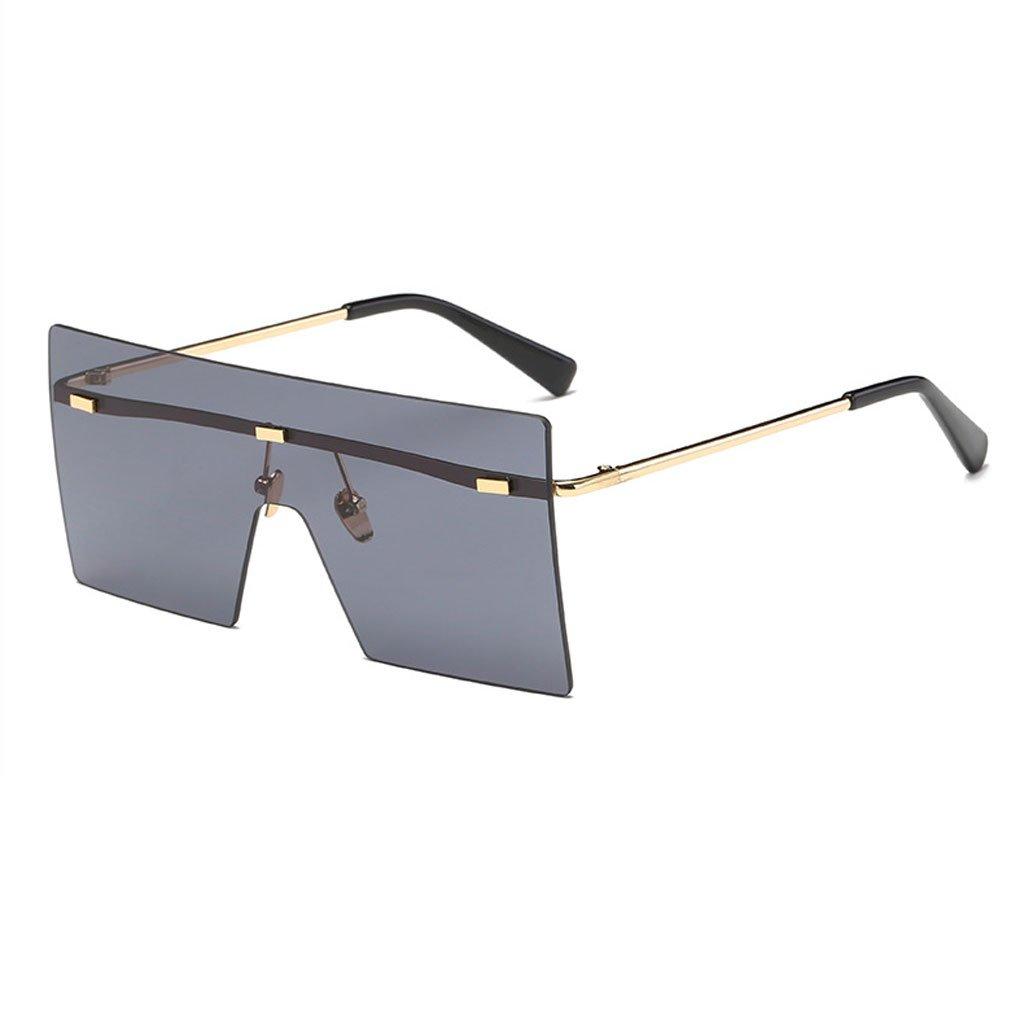 BLACK Sunglasses, Sunglasses Frameless Siamese Fashion Marine Lens Outdoor Hiking Photography AntiUV Radiation Glasses Polarized Shade Glasses (color   bluee)