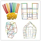 Product picture for Straw Constructor STEM Building Toys 300 pcs-Colorful Interlocking Plastic Enginnering Toys- Fun- Educational- Safe for Kids- Develops Motor Skills-Construction Blocks- Best Gift for Boys and Girls …