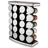 Olde Thompson 20 Jar Traditional Spice Rack, Stainless steel | 10 L x 5 W x 13 H | Holds up to 20 spices