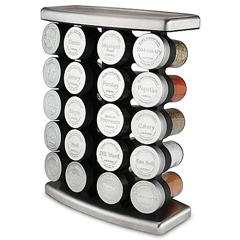 Olde Thompson 20 Jar Traditional Spice Rack, Stainless steel | 10