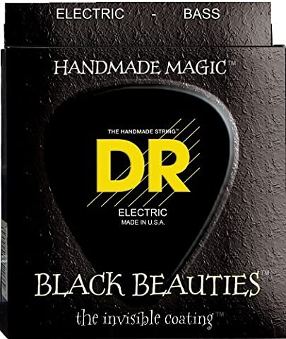 DR Strings Bass Strings, Black Beauties - Extra-Life, Black, Coated, Tapered, 0-110 (Dr Bass Guitar Strings For 6)