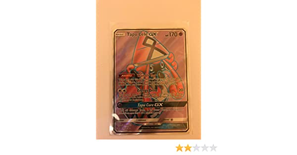 Amazon.com: Pokemon Tapu Lele-GX - 137/145 - Full Art Ultra Rare - Sun & Moon: Guardians Rising: Toys & Games