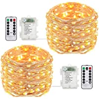 Tomshine Copper String 8 Modes 32.8 ft Fairy Lights with Remote Control