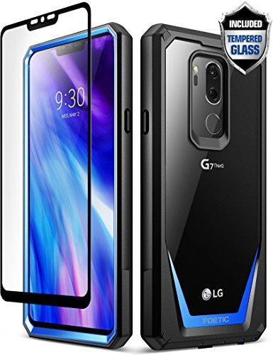 [해외]Lg g7 케이스 LG G7 씬 q 케이스 시적 수호자 【 스크래치 방지 】 【 360도 보호 】 전신 견고한 클리어 범퍼 케이스 [강화 유리] LG G7 씬 큐 블루 / LG G7 Case LG G7 ThinQ Case Poetic Guardian [Scratch Resistant] [360 Degree Protection] F...