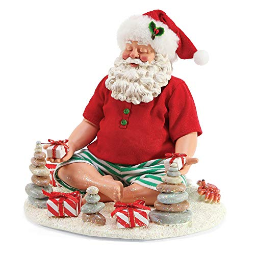 Department 56 Possible Dreams Santa by The Sea Beach Yoga Figurine, 8 Inch, Multicolor (56 Dreams Santas Department Possible)