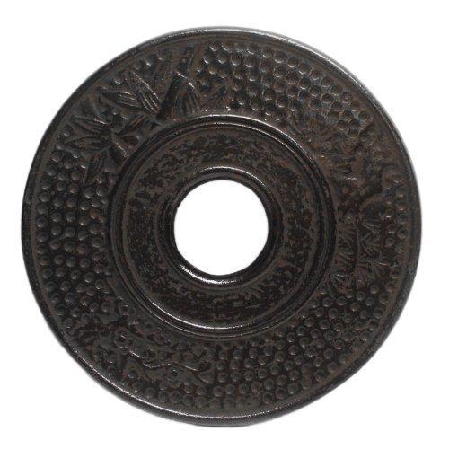 Japanese Cast Iron Teapot Trivet Teacup Sauces (Black-Bamboo)